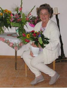 Hedwig Neubacher an ihrem 80. Geburtstag